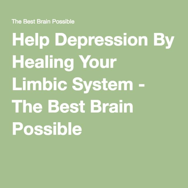 Help Depression By Healing Your Limbic System - The Best Brain Possible