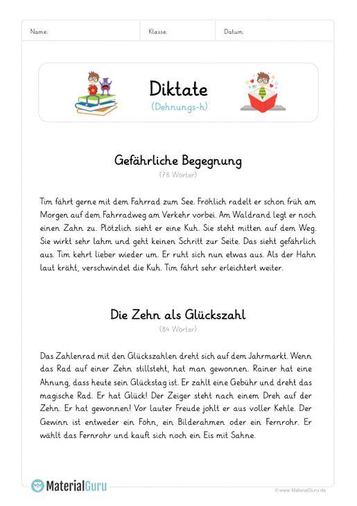 diktat dehnungs h deutsch deutsch unterricht arbeitsbl tter und unterricht schule. Black Bedroom Furniture Sets. Home Design Ideas