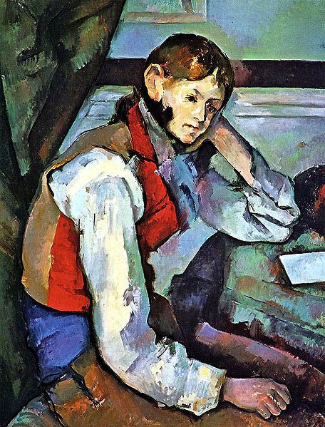 Paul Cézanne, Jeune garçon au gilet rouge-Top 10 Famous Pieces of Art Stolen by the Nazis