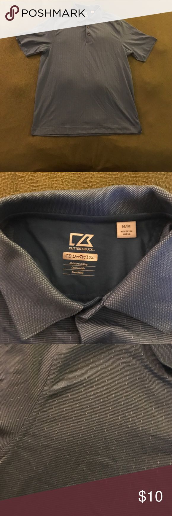 Men's Polo Shirt Name Brand Excellent condition men's polo shirt by Cutter and Buck.  Size medium.    No stains or damage of any kind, barely worn.  I discount bundles 20%  starting at just two items and have other items posted of the same size.  Thank you! Cutter & Buck Shirts Polos