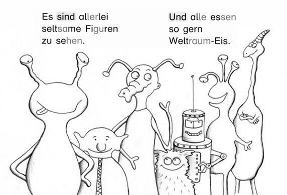 """Lese-Mal-Heft """"Der Eisplanet""""  Unterrichtswerk """"Karibu"""" Westermann Verlag"""