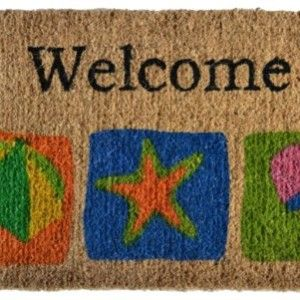 BEACH DOORMATS LIST! Find a new coastal, tropical, beach, or nautical doormat for your beach home.  We have beach doormats that feature themes like seashells, crabs, sand dollars, mermaids, palm trees, the beach, beach chairs, flip flops, anchors, ship wheels, lighthouses, starfish, waves, sand, and more.
