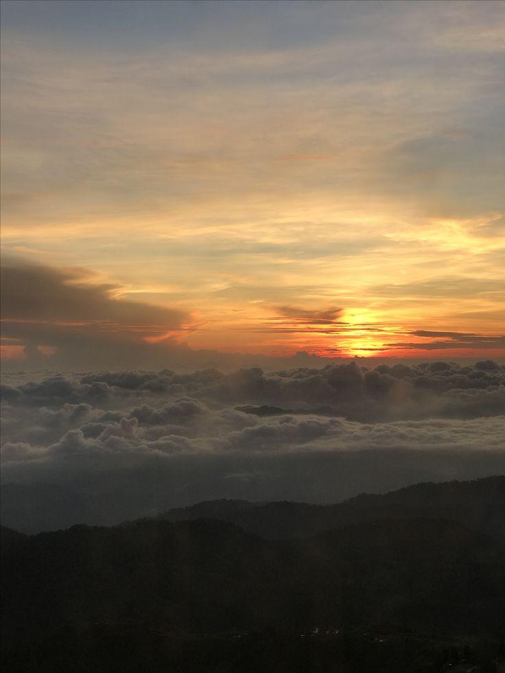 Sunrise between clouds at Genting Highland,Pahang,Malaysia