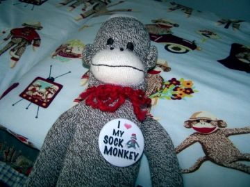 Sock monkey buttons would make fun birthday gifts on #Zibbet!