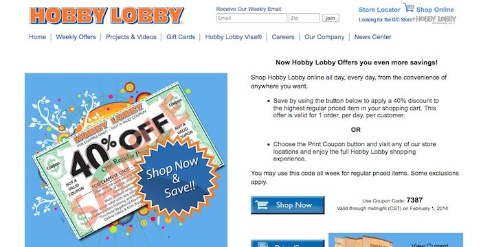 40 Off Hobby Lobby Coupon Promo Codes August