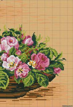 ♥ My point Graphs Cruz ♥: Frame: Roses arrangement in Cross Stitch