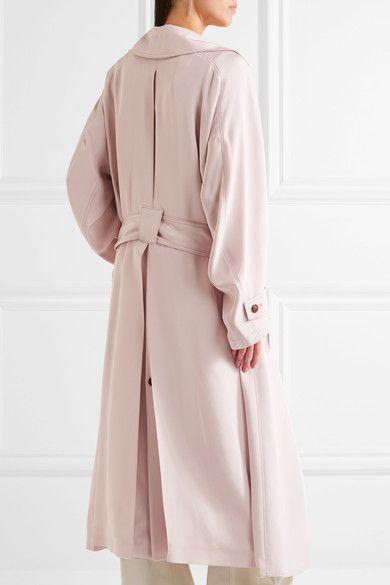 Gabriela Hearst - Cabot Oversized Silk-charmeuse Trench Coat - Blush