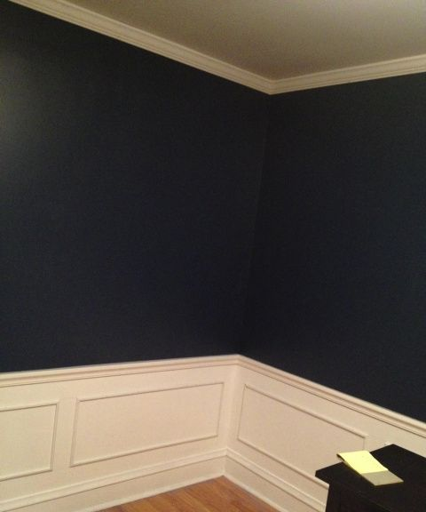 How To DIY Install Crown Molding And Faux Wainscoting