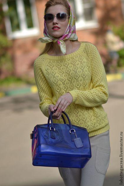 Кофты и свитера ручной работы. Ярмарка Мастеров - ручная работа Ажурный вязаный свитер Сompliments. Handmade.