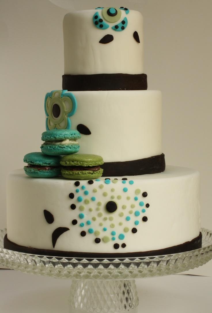 French macaron wedding cake
