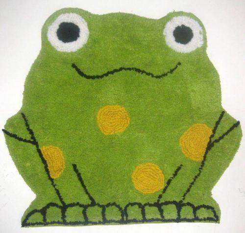 CUTE GREEN FROG PLUSH RUG Kid's Bathroom Bedroom - Images About Evelyn's Frogtastic Bathroom On Pinterest