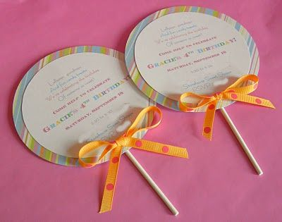 Birthday Party Blog: Sweet Shoppe Party Invitations