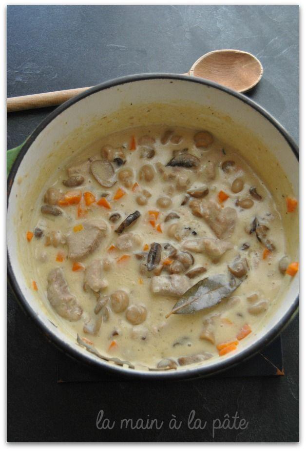 Filet mignon cuisiné comme une blanquette avec une sauce bien crémeuse.