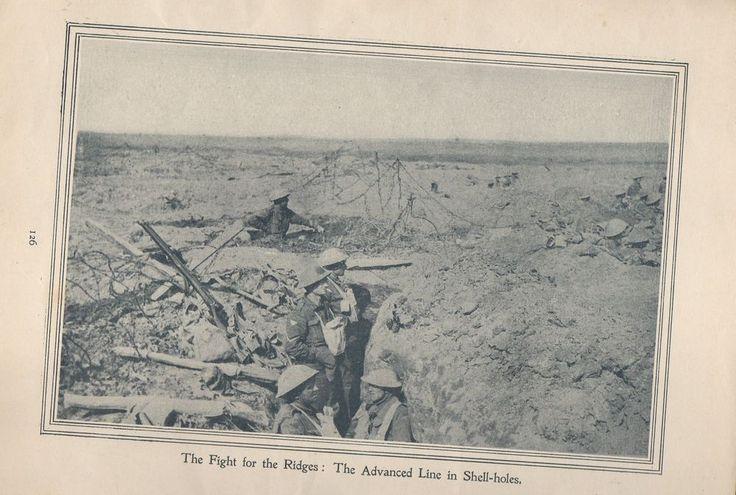"Original 1917 Anzac Print-Antique Vintage ""The Fight for the Ridges: The Advance"