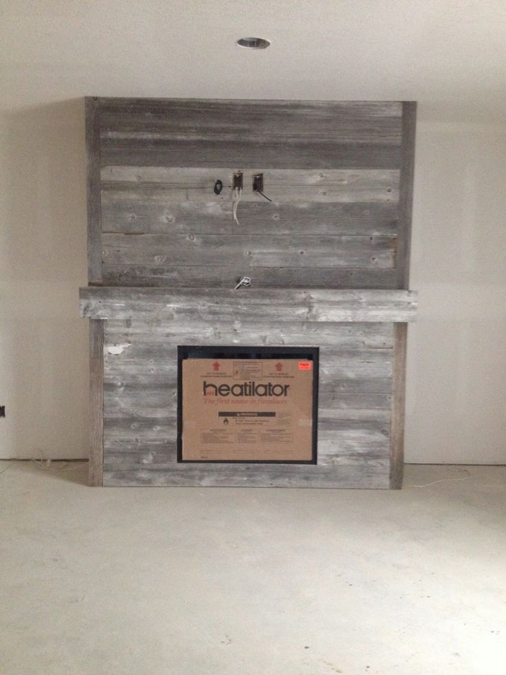 Wood Fireplace barnwood fireplace : 12 best images about Fireplace Ideas on Pinterest | Mantels ...