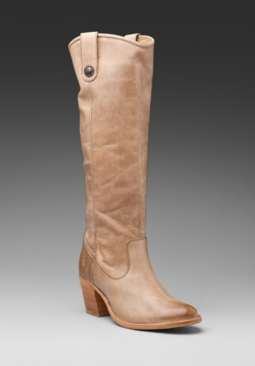 FRYE Jackie Button Boots in Fawn at Revolve Clothing - These are absolutely going on my registry, love, love, love