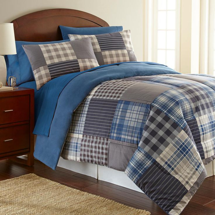 Micro Flannel Smokey Mountain Smokey Mt Plaid Stripes and Plaids King Comforter MFNCMKGSMP