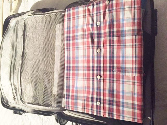 look how neat liftnfind.com luggage dividers can double as a folding board and keep shirts neat and tidy!