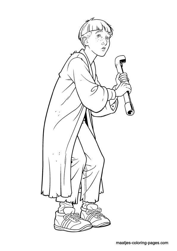 Harry Potter Coloring Page16 Source Maatjes Pages