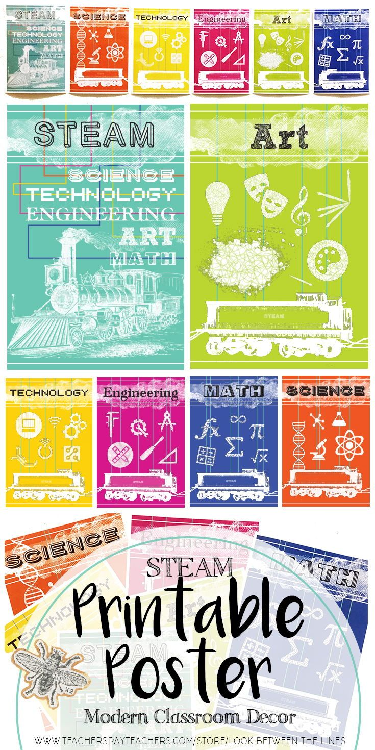photograph relating to Printable Technology known as STEAM Printable Poster Pack: Science, Technological know-how