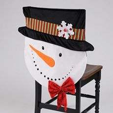 Snowman Chair Back Cover