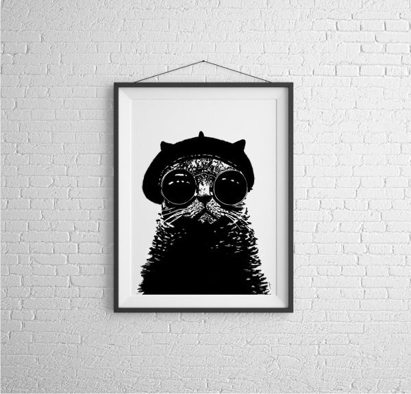 Kot Pierre w Kreska na DaWanda.com