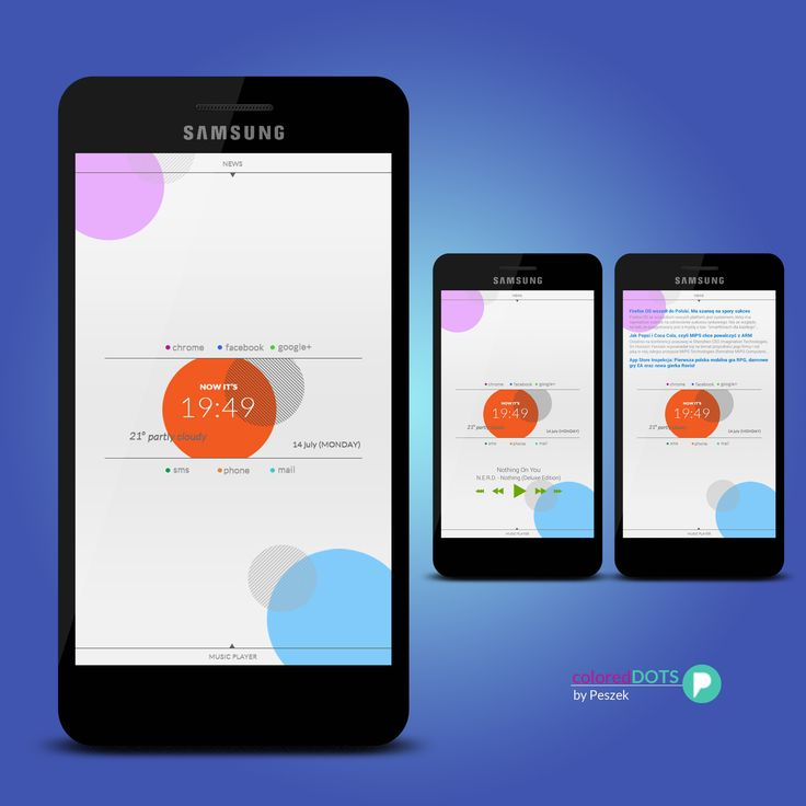 Colored Dots Android Homescreen By Peszek   MyColorscreen. Android ThemeApp  DesignHomescreenDesign ...