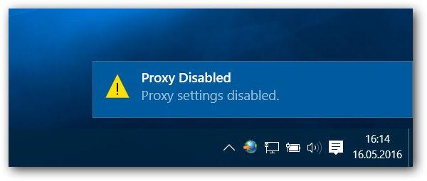 Windows 7, 8 ve 10: Proxy Ayarlarını Tek Tıklatma ile Değiştirmek Windows 10