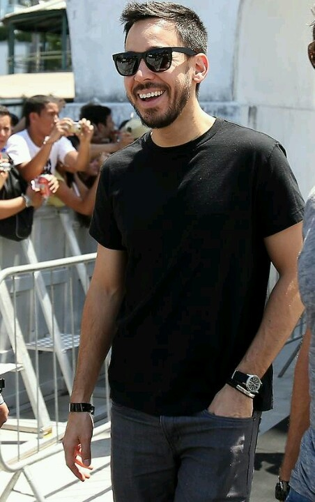 Mike shinoda..  Seriously, the best smile ever!