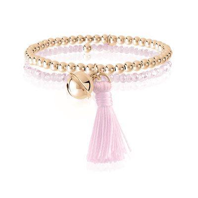 #BRACELET argent 925 rosé cristal rose #MATY #Bijoux - www.maty.com