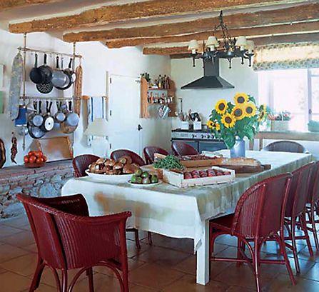 Kitchen In France Of Designer Kathryn Ireland