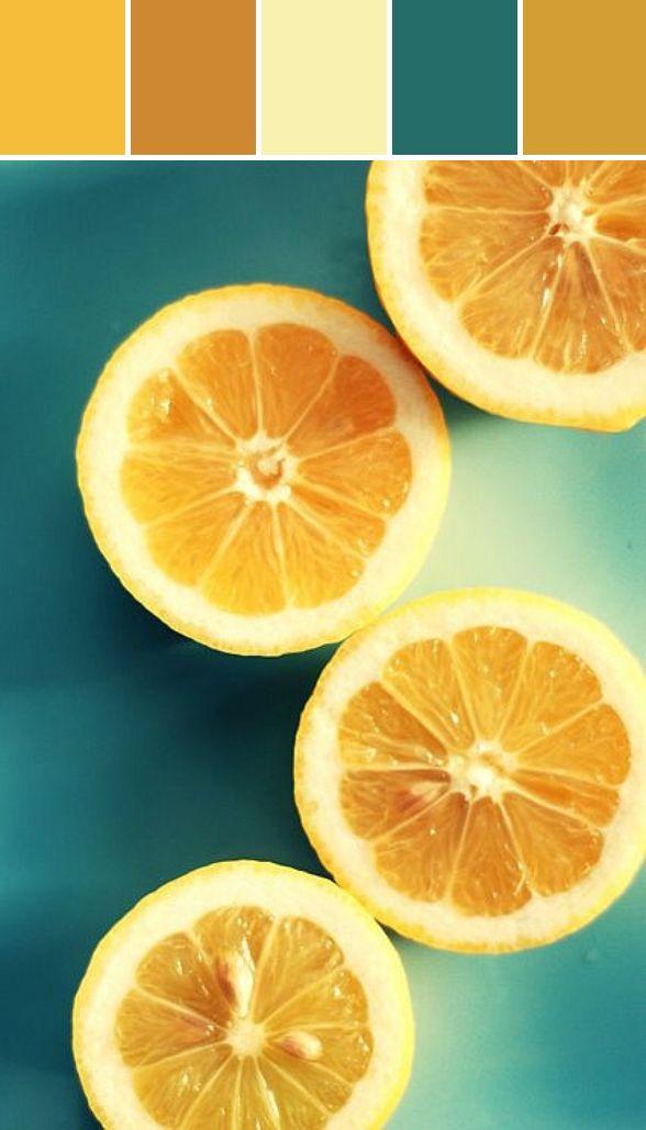 Orange and Teal Designed By Lisa Perrone   Stylyze Creative Director via Stylyze