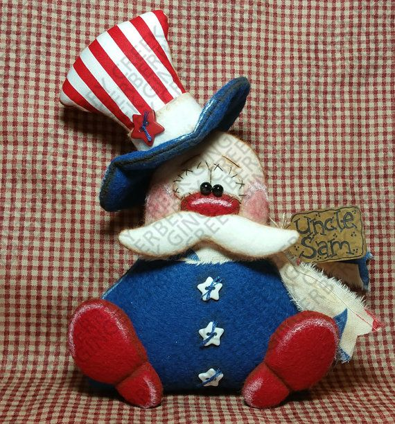 E-Pattern - Yankee Doodle Dandy Sam Pattern #216 - Primitive Doll E-Pattern - Patriotic - 4th of July