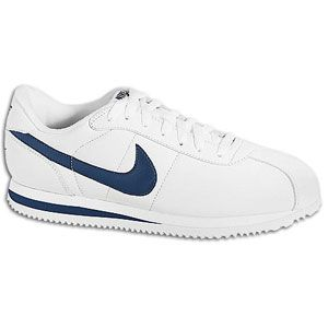 Nike Cortez - Mens - White/Midnight Navy. Size down by 2 sizes for