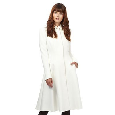 Giles/EDITION Ivory fit and flare coat- | Debenhams