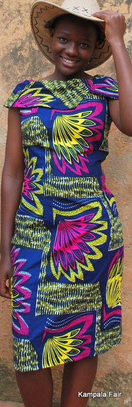 african print fabric dress from Uganda