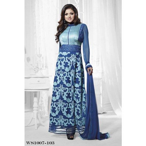 New Collection  Designer Navy Blue Anarkali Suits