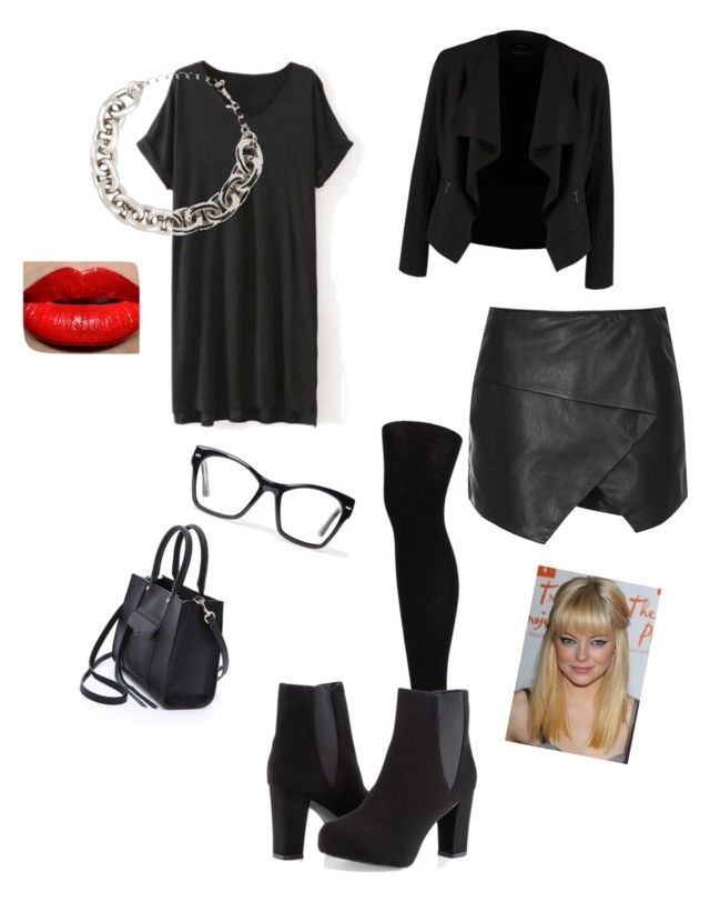 Women who wear black Live colourful lives by kate-rose-ellery on Polyvore featuring polyvore, fashion, style, OPUS Fashion, Topshop, Hue, Ashley Stewart, Rebecca Minkoff, Kenneth Jay Lane, Spitfire and clothing