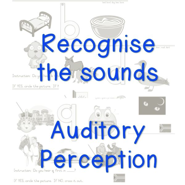 Sound recognition activities for beginners.