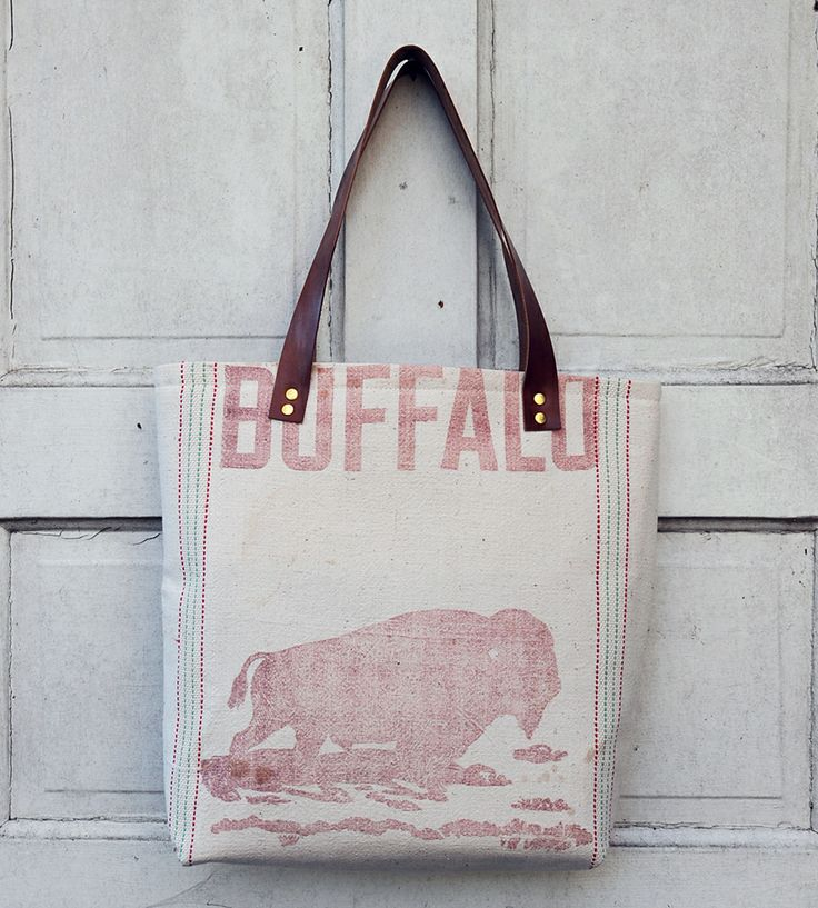 Vintage Alfalfa Seed Sack Tote | Women's Bags & Accessories | Hawks and Doves | Scoutmob Shoppe | Product Detail