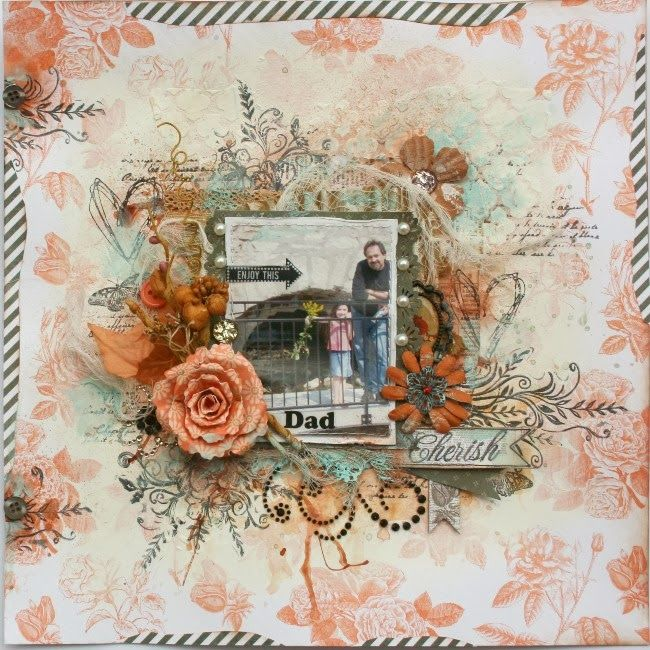 Gabrielle Pollacco created this stunning layout featuring the new Pincushion collection. Love all the details. #BoBunny, @Gabrielle Pollacco