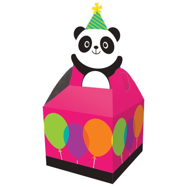 PANDA MONIUM TREAT BOXES Panda Bear Birthday Party Supplies Favor Box Loot