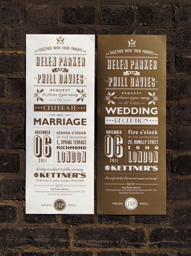 1930's Wedding Invitation on Behance
