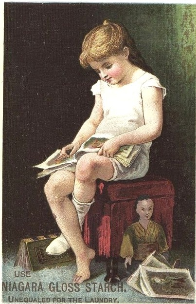 girl reading, Niagara Gloss starch poster