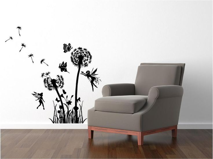 Dandelion  Fairy Custom vinyl wall decals, Stick on wall art, Wall decals #Unbranded #Modern