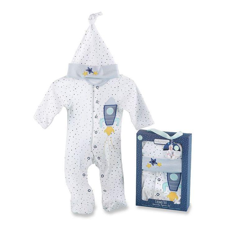 Baby Aspen Cosmo Tot Spaceship 2-Piece Pajama Gift Set, Infant Boy's, Multicolor