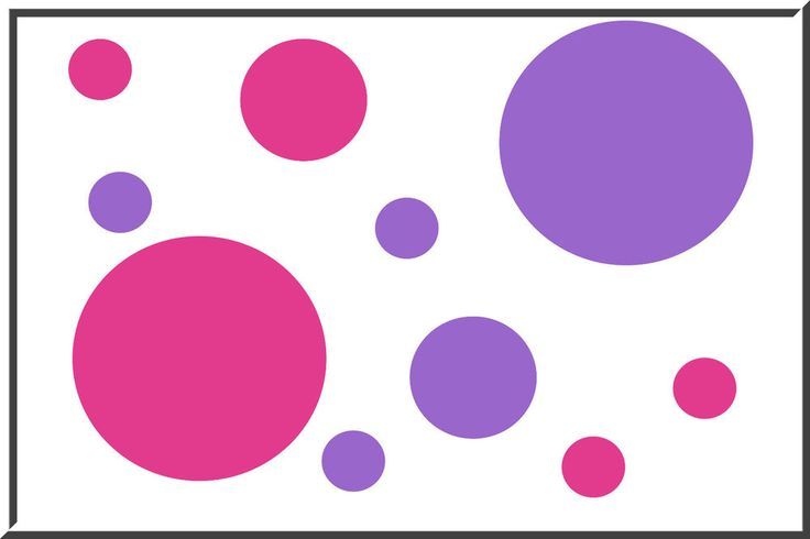 40 POLKA DOTS vinyl wall art stickers decals circles Pink and Lavender | Baby, Nursery Décor, Wall Décor | eBay!