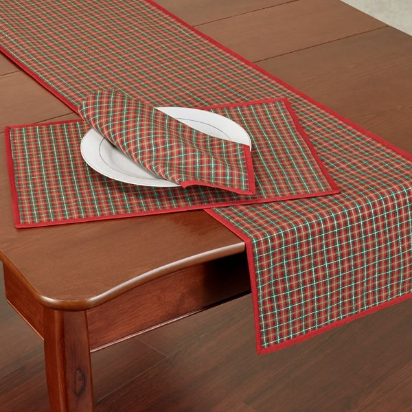 Lenox Holiday Nouveau Joyful Plaid Table Runner And Linens Table Runners Oblong Tablecloth Holiday Dining