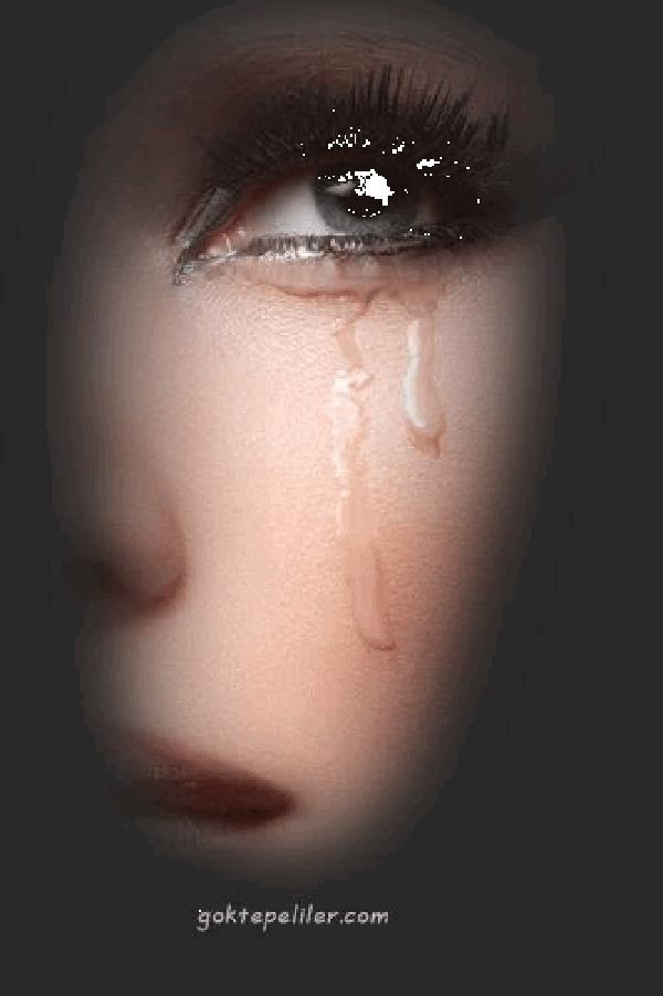 Гифка слеза катится из глаза
