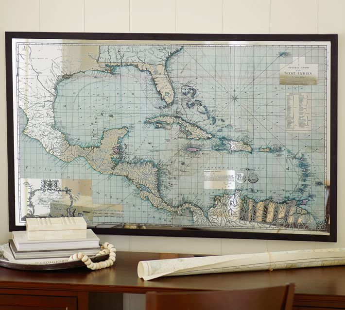 Mirror Map Wall Art Option In Kitchen Living Area